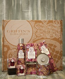 Tuscan Vineyard Aroma Gift Set Griffins Aroma & Candle Baskets Columbus Ohio