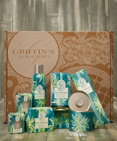 Spa Springs Aroma Gift Set Griffins Aroma & Candle Baskets Columbus Ohio