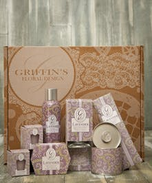Lavender  Aroma Gift Set Griffins Aroma & Candle Baskets Columbus Ohio