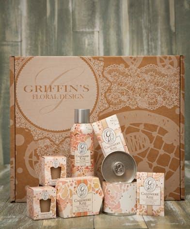 Cashmere Kisses Aroma Gift Set Griffins Aroma & Candle Baskets Columbus Ohio