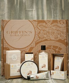 Honey & Coconut Spa Set Griffins Spa Baskets Columbus Ohio
