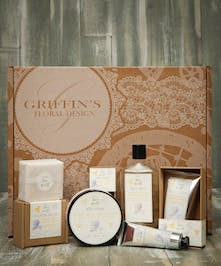 Lavender Infused Honey Spa Set Griffins Spa Baskets Columbus Ohio