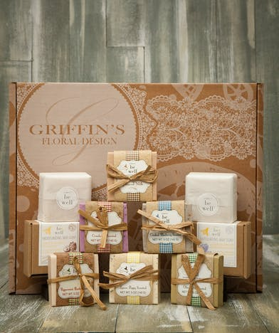Deluxe Simply Be Well Moisturizing Soap Set Griffins Spa Baskets Columbus Ohio