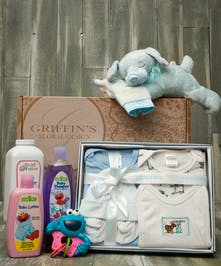 Baby Boy 5 Piece Gift Basket Set Columbus Baby Baskets