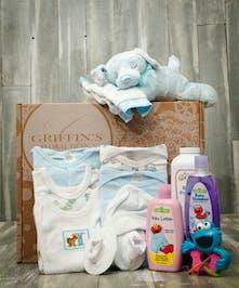 Baby Boy 7 Piece Gift Basket Set Columbus Baby Baskets