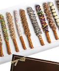 """Chocolate Pretzel Rods"""