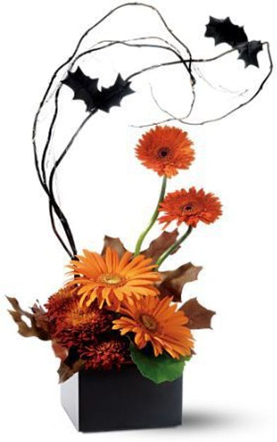 WOW Bat's Incredible Fall Flowers Columbus Florists Griffins Halloween