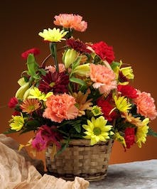 Autumn Basket of Flowers Fall Flowers Columbus Florists Griffins