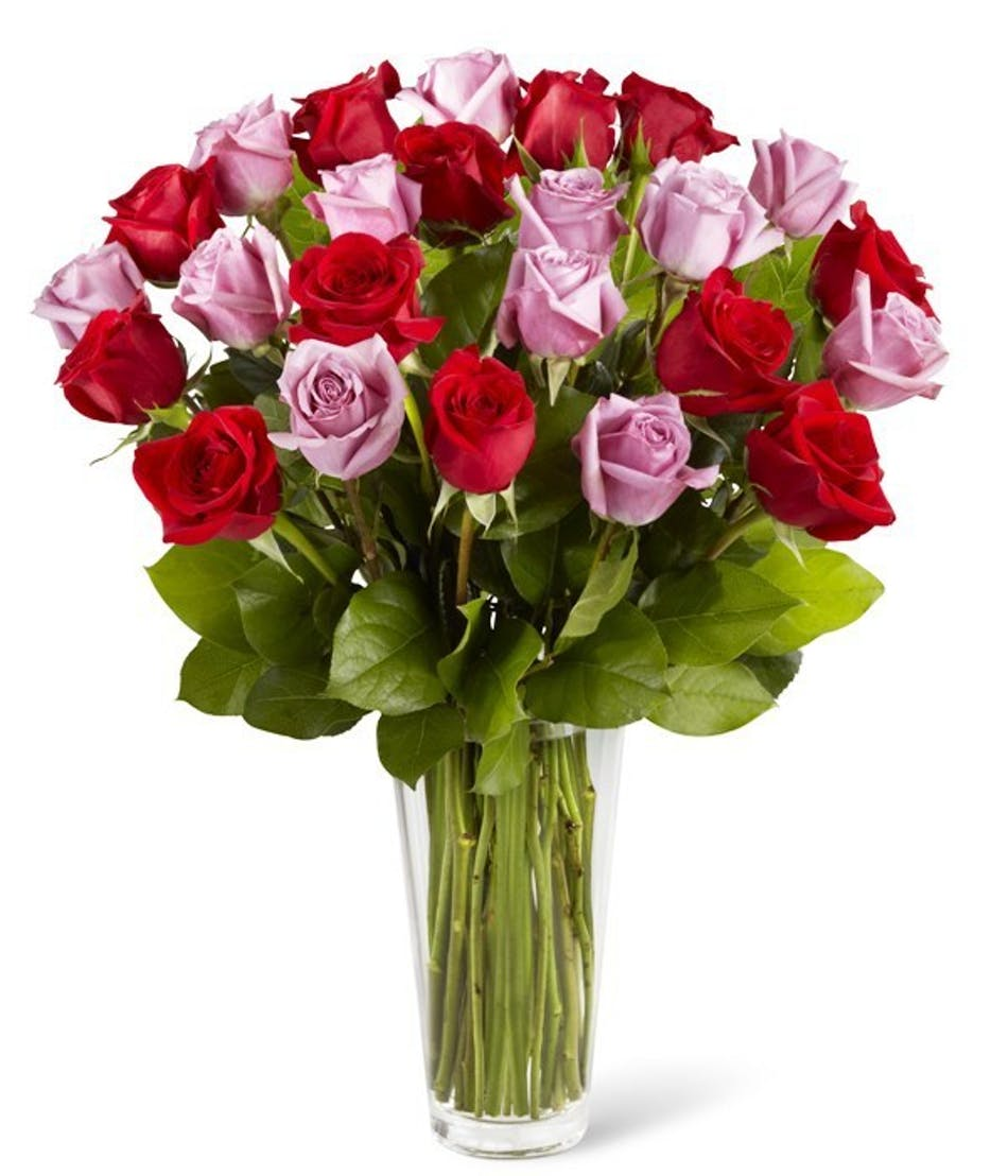 Lavender & Red Anniversary Roses   Anniversary Flowers   Columbus ...