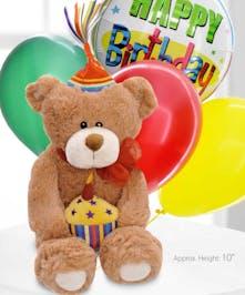 Mr Bear E. & Birthday Balloons