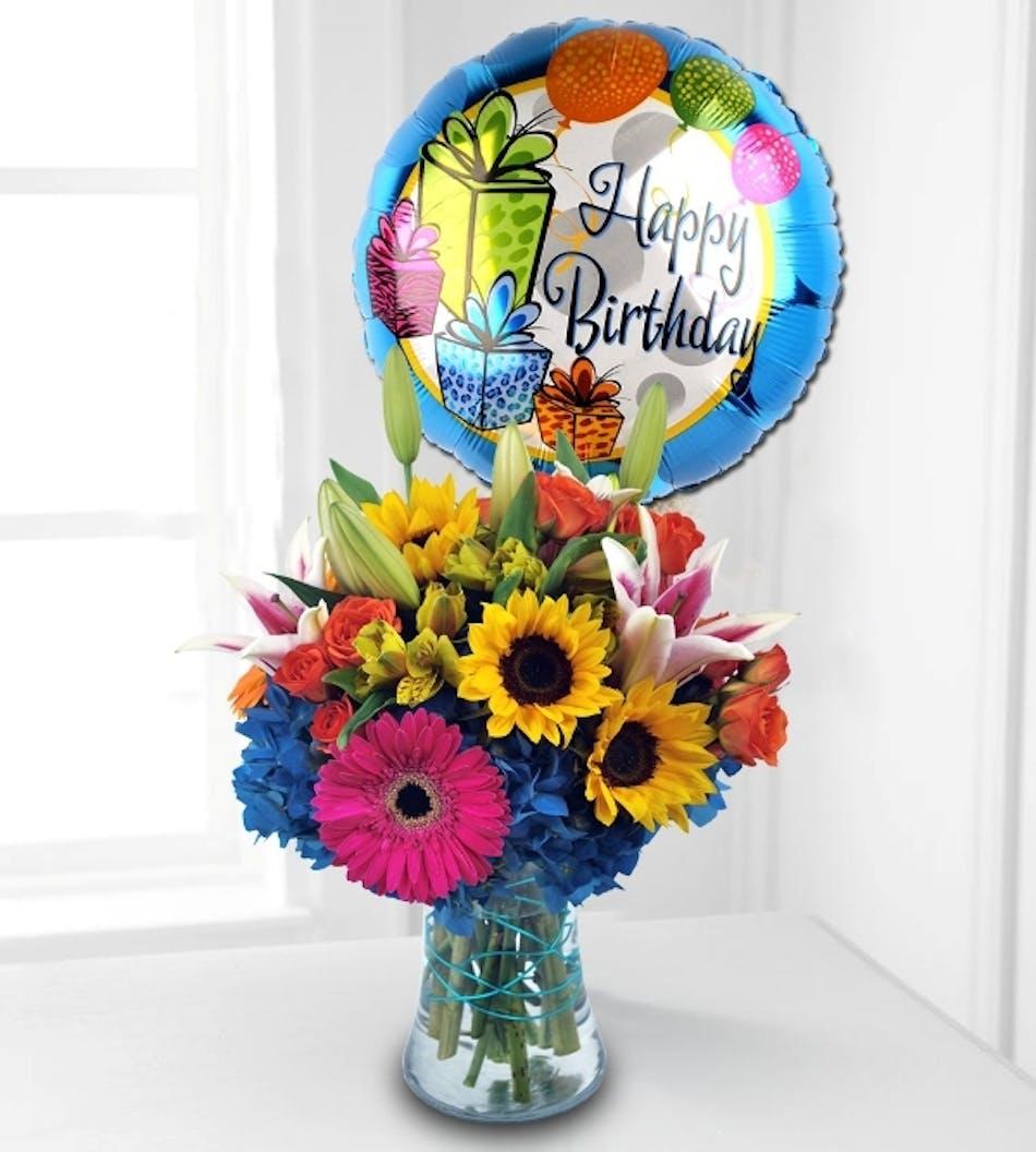 Griffins floral birthday flowers balloon duet delivery conditions reward points izmirmasajfo