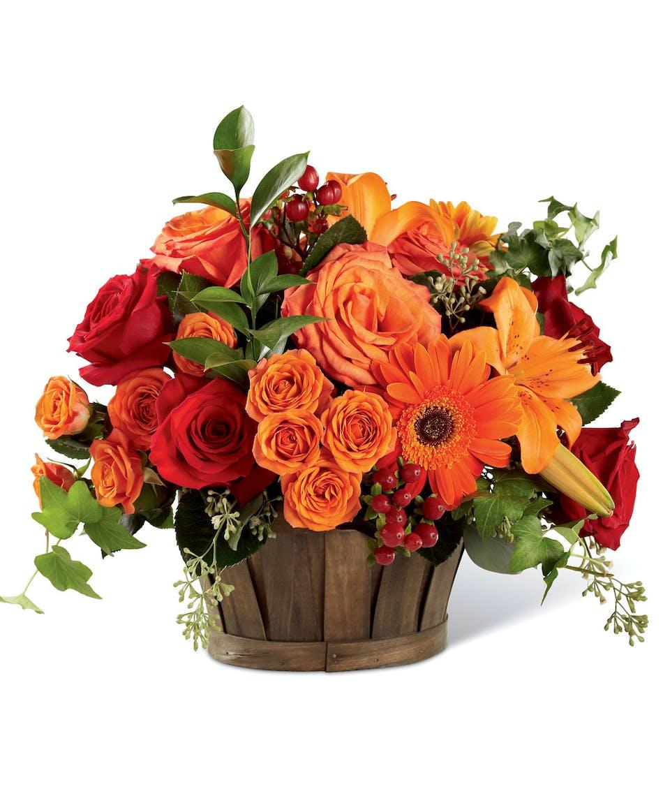 Sunset Basket by Columbus Ohio Flowers Griffins Floral Design