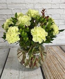St Patricks Bowl Of Carnations Columbus flowers