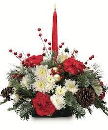 Single Candle Centerpiece Christmas Centerpieces Columbus Ohio Griffins Floral