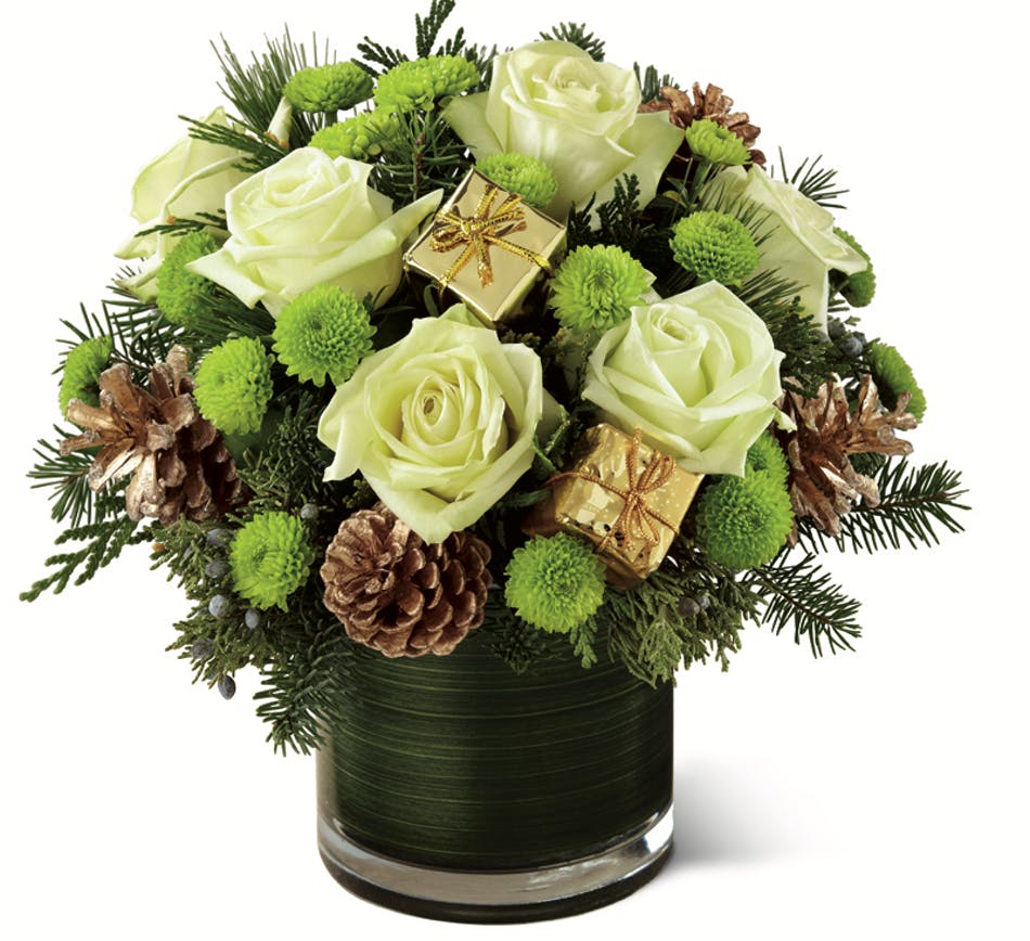 Holiday Presents Christmas Flowers Columbus Ohio Florists