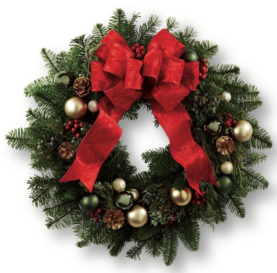 Holiday Winter Wreath Christmas Plants Columbus Ohio FloristsBall