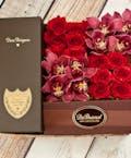 Orchids & Roses Dom Perignon Champagne Gift Box