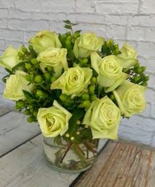 St Patricks Bowl Of Roses Columbus flowers