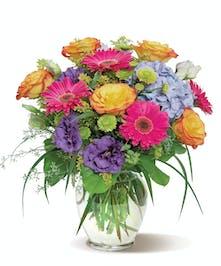 Radiant Rainbow Birthday Flowers Columbus Ohio
