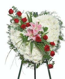Delicate Beauty Heart Sympathy Flowers Columbus Ohio