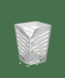 Tuxedo Square Vase