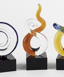 3 pc. Mini Set Art Glass Designs
