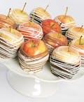 6 Gourmet Chocolate Dipped Apples
