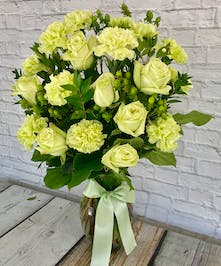 Irish Roses And Carntions Vase Columbus Ohio St Patricks Day Roses