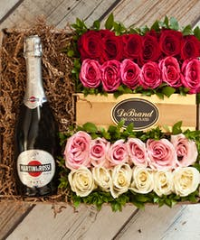 24 Roses & Martini Rossi Champagne Gift Box