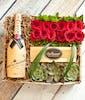 12 Roses & Moet Chandon Gift Set