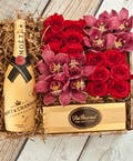 Orchids & Roses Moet Chandon Champagne Gift Box
