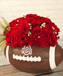 OSU Roses And Posies Ohio State Football Flowers Columbus Oh Florists Newark Ohio Flowers
