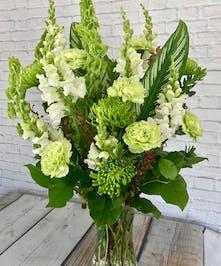 Pattys Vased Bouquet St Patricks Day Flowers Columbus Ohio