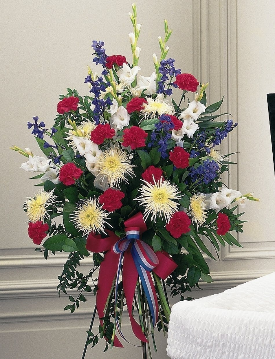 Quotpatriotic spirit sprayquot funeral flowers columbus delivery conditions reward points izmirmasajfo Image collections
