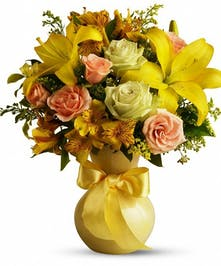 Sunny Birthday Smiles - Birthday Flower Columbus Ohio By Griffins Floral Design