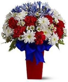 Patriotic Petal Vase