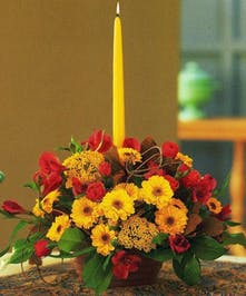 Traditional Oblong Thanksgiving Centerpiece