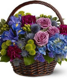 A capturing basket of deep jewel tones