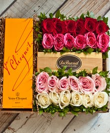 24 Roses & Veuve Cliquot Champagne Gift Box