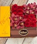 Orchids & Roses Veuve Cliquot Champagne Gift Box