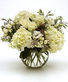Bowl of Hydrangeas & Roses
