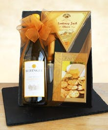 Classic Chardonnay Wine & Cheeseboard Wine Basekets Columbus