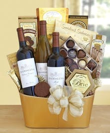 Golden Vineyard Gourmet Wine Baskets Columbus Ohio