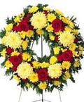 Colorful Memories Standing Funeral Wreath