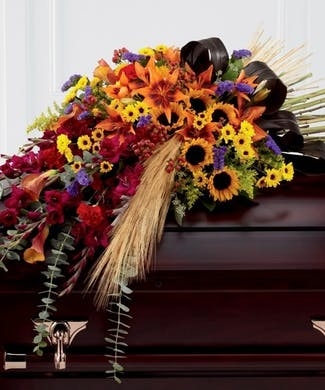 Autumn Traditions Casket Spray