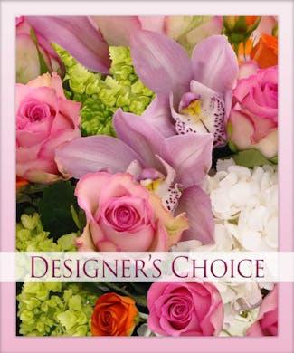 FRESH FLORAL ARRANGMENT - DESIGNERS CHOICE