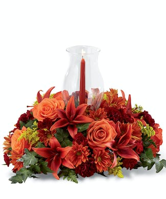 Enchanted Fall Hurricane Centerpiece