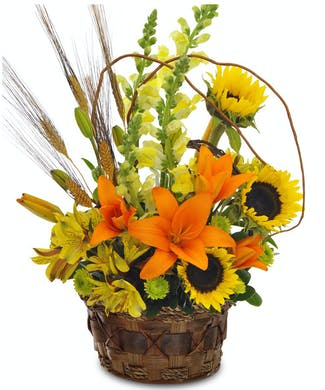 Garden Blooms Autumn Basket