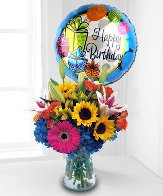 Birthday Flowers & Balloon Duet