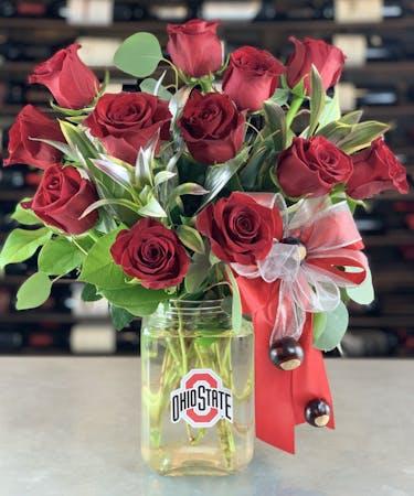 Ohio State Roses One Dozen Columbus Ohio Griffins Floral Design